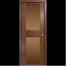 Дверь шпонированная MILYANA Qdo Д дуб палисандр стекло бронза